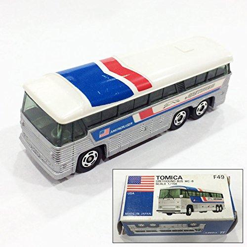 (中古品) トミカ外国車シリーズ 青箱 F49 グレイハウンドバス MC-8 スケール1/156(日本製) トミーTOMY B01N0XRFAU