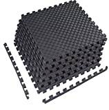 """BalanceFrom 1"""" EXTRA Thick Puzzle Exercise Mat with EVA Foam Interlocking Tiles for MMA, Exercise, Gymnastics and Home Gym Protective Flooring"""