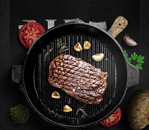 16LYP Steak en fonte épaisse friture pot rayé non couché pan pot bifteck de ronde antiadhésive barbecue fonte 24cm alios