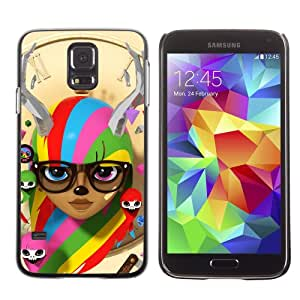 Designer Depo Hard Protection Case for Samsung Galaxy S5 / Colorful Cute