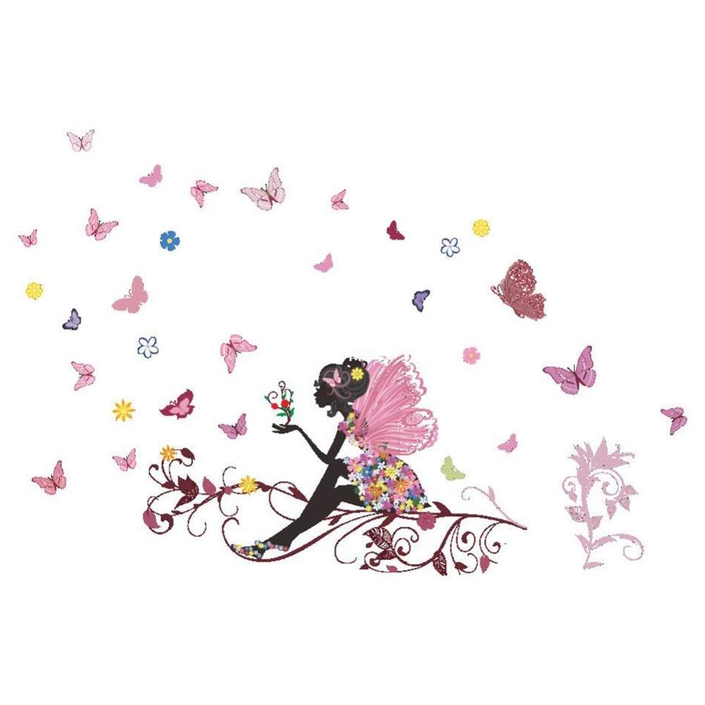 Nicedeal Adesivi Murali Bella di Farfalla Adesivi da Parete Amovibile Decorazione per Muri 50 * 70cm Atmosfera di casa deco