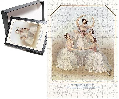 [Photo Jigsaw Puzzle of Four ballerinas on a music sheet] (Early Ballet Costumes)