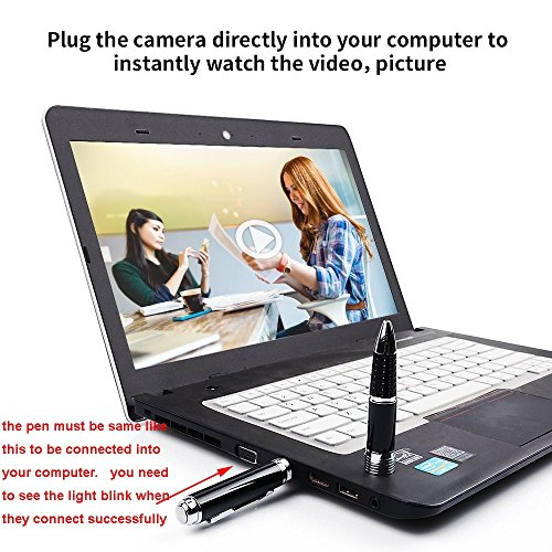 1080P Camera Pen +Free 16G Micro SD Card+Keychain Charging Cable+5 Ink Fills+Update Battery