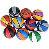 "Mini 5"" Assorted Multi-Color Rubber Basketballs (5-Pack)"