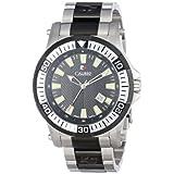 Calibre Men's SC-5H1-04-007 Hawk Date Analog Display Quartz Silver Watch