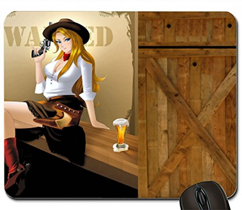 Wanted Cowgirl 1989893 mouse pad computer mousepad