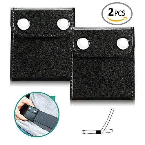 Seatbelt Adjuster,Comfort Auto Shoulder Neck Strap Positioner Locking Clip Protector,Universal Vehicle Car Seat Belt Safety Covers (2 Pack) (Black) ()