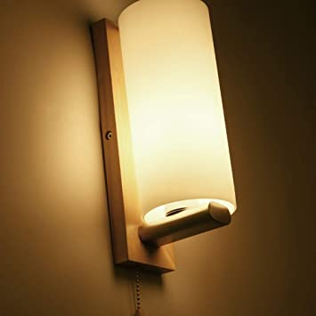 Mkjbd Linterna de Pared Lámpara de Jardín Lámpara de Pared Lámpara de Pared Lámpara de Pared Bastante Creativa Simple de Vidrio Macizo Lámparas de Pared Longitud 10Cm de Alto 28Cm5-10 Metros Cuadrado: