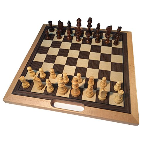WE Games Classic Folding Chess Set with Handle - Camphor Wood Board 16 in.