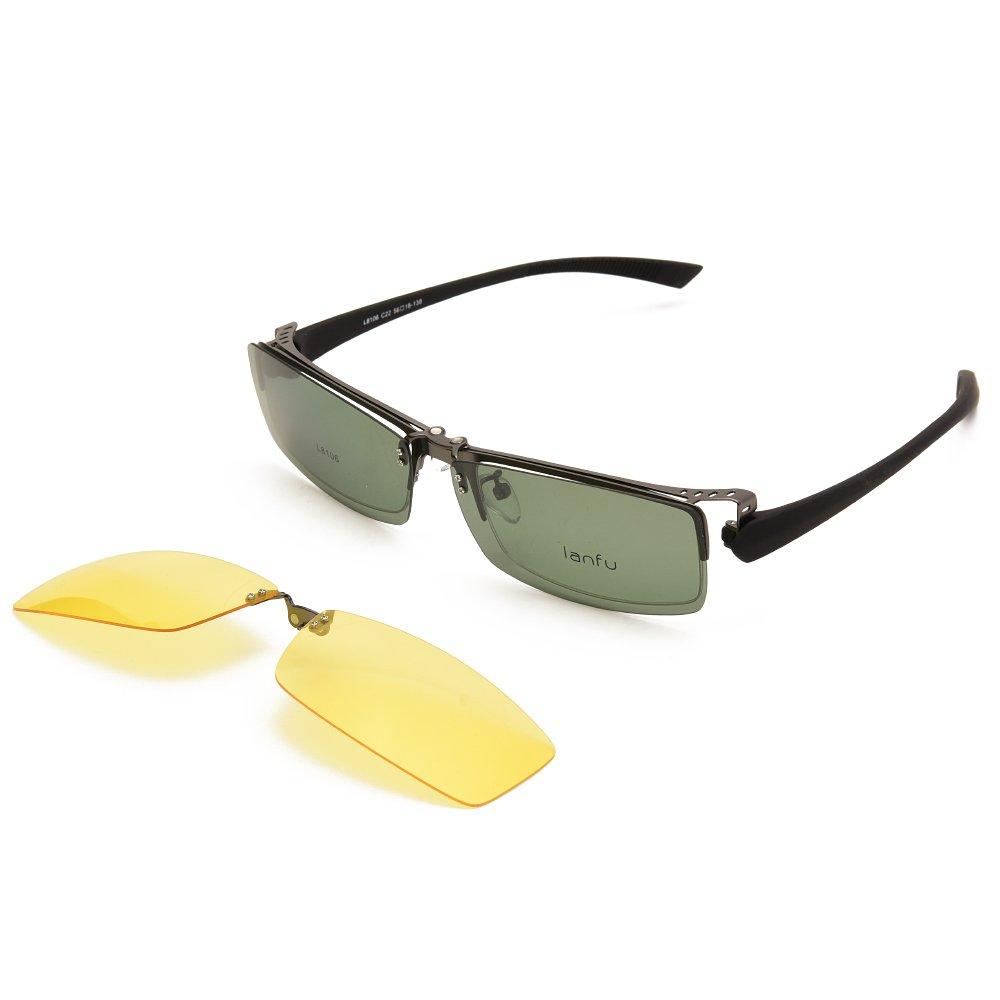 94e40d55c3 Langford TR90 Clip-On Polarized Sunglasses For Men