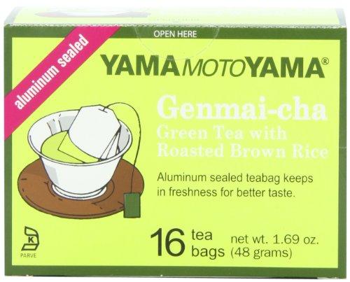 Yamamotoyama Genmai-cha thé vert avec rôti de riz brun, 1,69 onces boîtes (pack de 12)