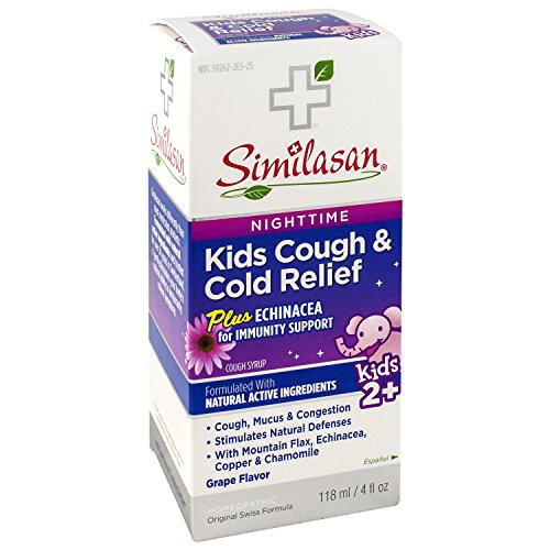 Similasan Kids Nighttime Cough & Cold Relief Plus Echinacea for Immunity Support, 4 Ounce