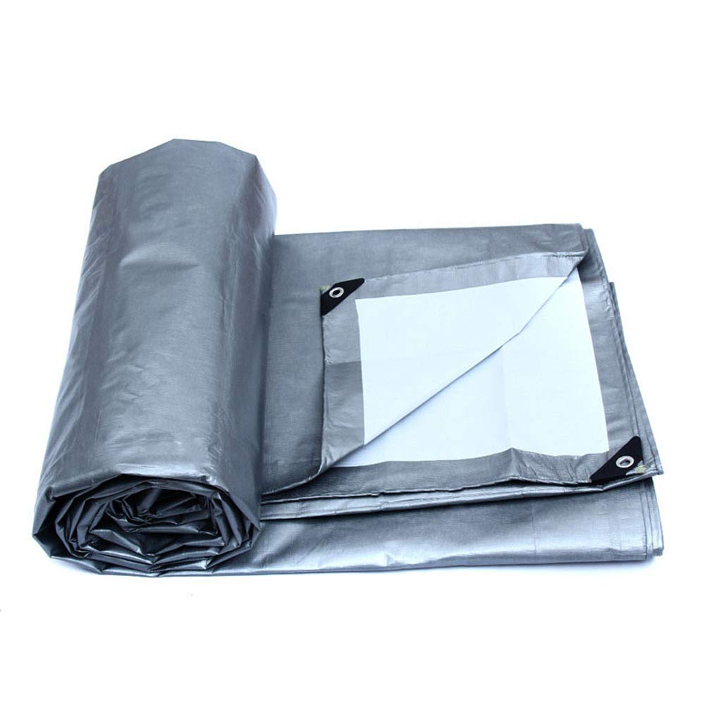 Sunscreen Plane Sunscreen Anti-UV-Tuch, Doppelseitige Wasserdichte Plastikplane, im Freien Plane Gepolsterte Segeltuch-Plane