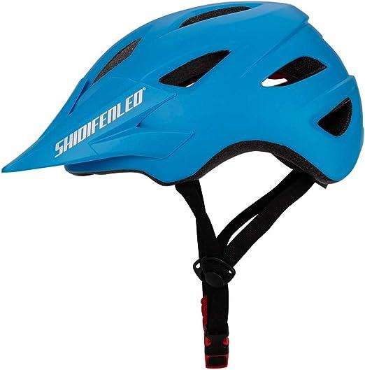 Casco para bicicleta Peso ligero Proceso de una pieza Sombrero para el sol Diseño de desvío Seguridad Protección Adecuado para Bicicleta de carretera Ciclismo de montaña BTT Hombres y mujeres,Blue: Amazon.es: Hogar