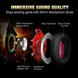 RUNMUS Gaming Headset Xbox One Headset with 7.1 Surround Sound Stereo, PS4 Headset with Noise Canceling Mic & LED Light, Compatible with PC, PS4, Xbox One Controller(Adapter Needed), Nintendo Switch