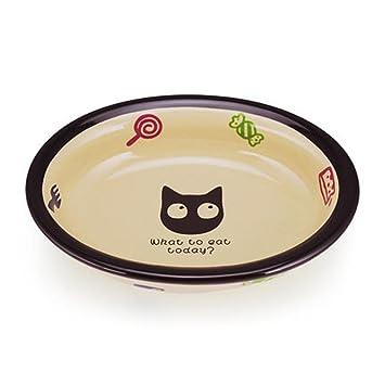 xueyan&Dibujos animados gato tazones de fuente de cerámica de microondas de tazón de fuente de gato