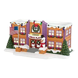 Department 56 The Simpson\'s Village from Springfield Elementary School Lit House Figurine, 5.12-Inch