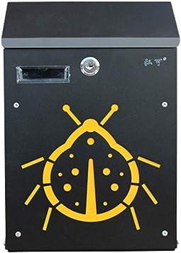 LY- Caja del metal pequeña, Carta Residencial Escuela de Empresa de dibujos animados caja con cerradura, for cartas, notas, tarjetas postales: Amazon.es: Bricolaje y herramientas