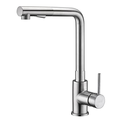 Pull Out Kitchen Faucet Brushed Nickel, Crea Kitchen Sink Faucets ...