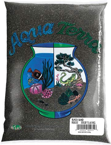 Nature's Ocean Aqua Terra Black Sand 5 lb Bag, Natural Aquarium Sand