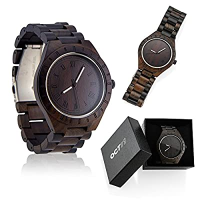 Oct17 Men's Unique Luxury Wristwatch Casual Wooden Quartz Watches Fashion Wrist Watch Natural Wood Watch