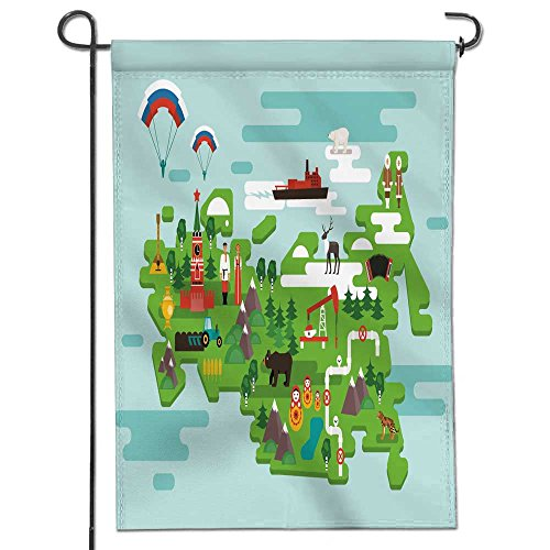America Garden Flag Travel Concept Russia National Symbols National Costumes Famous Attractions The Country Two Sided - Home Garden Flag 12