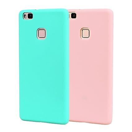 Funda HuaWei P9 Lite, Carcasa HuaWei P9 Lite Silicona Gel, OUJD Mate Case Ultra Delgado TPU Goma Flexible Cover para HuaWei P9 Lite - Cielo azul + ...