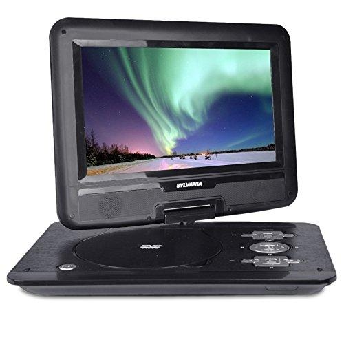 """Sylvania 10.1"""" 180° Swivel Portable DVD Player with USB Por"""