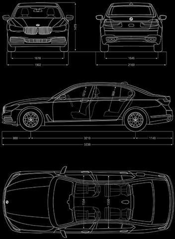 2017 BMW M760 i xDrive - Blueprint Poster for sale  Delivered anywhere in USA