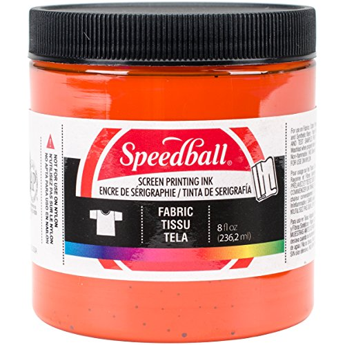 (Speedball Art Products FSPI8-4569 Fabric Screen Printing Ink, 8-Ounce, Orange)