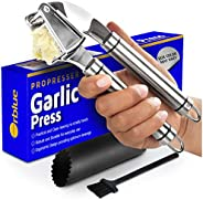 ORBLUE Garlic Press [Premium], Stainless Steel Mincer, Crusher & Peeler Set - Professional Grade, Easy Cle