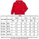 Kid Nation Kids' Soft Brushed Fleece Casual Basic Pullover Hooded Sweatshirt Hoodie for Boys or Girls XS Purple
