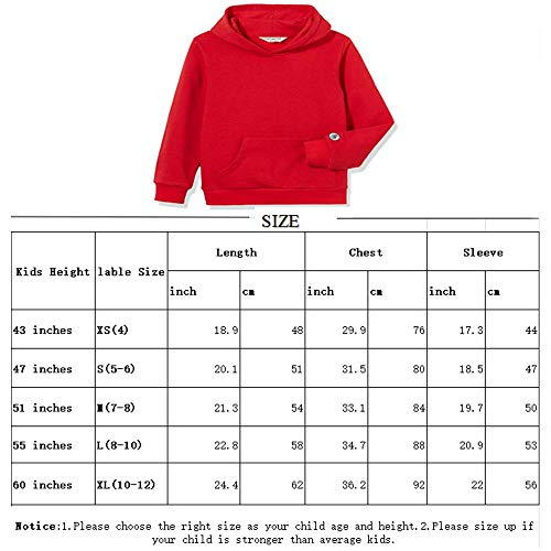 Kid Nation Kids' Solid Fleece Hooded Pullover Sweatshirt for Boys Or Girls S Yellow