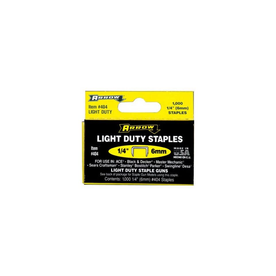 Arrow Fastener 404 Light Duty Staple 1/4   1000 Pk(pack of 5)