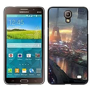 LECELL--Funda protectora / Cubierta / Piel For Samsung Galaxy Mega 2 -- Futuro París Francia --