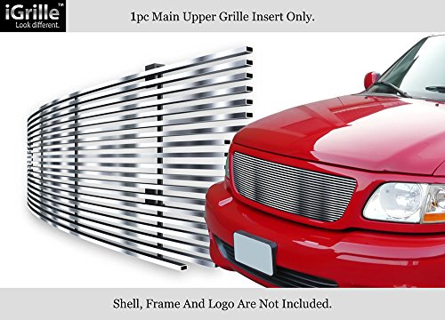 APS Compatible with 99-03 Ford F150/Lightning/Harley Davidson Stainless T304 Billet Grille Grill N19-S27058F ()