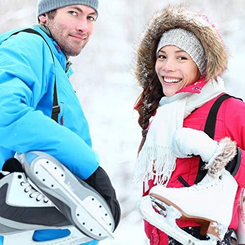 4 Pieces Ski and Snowboard Boot Carrier Strap Adjustable Shoulder Sling Leash Ice Skates Shoulder Strap Winter Gear Leash Accessory