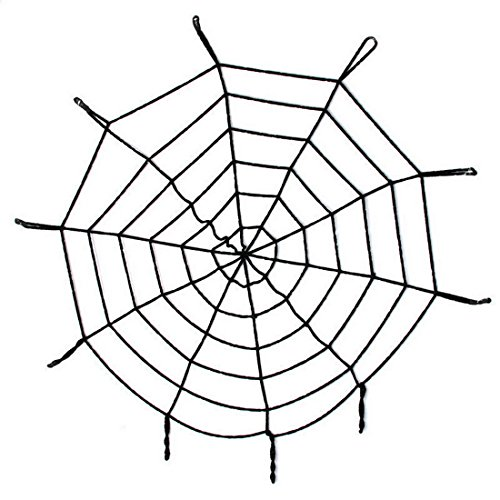 3 Size Giant Spiders Web Cobweb Halloween Decor Haunted House Party Decoration (1.5 m / 4.9 feet, black) (Halloween Castume)