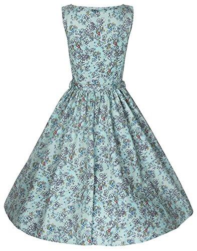 Lindy-Bop-Classy-Floral-Print-Audrey-Hepburn-Style-Vintage-1950s-Pinup-Dress-6XL-Turquoise