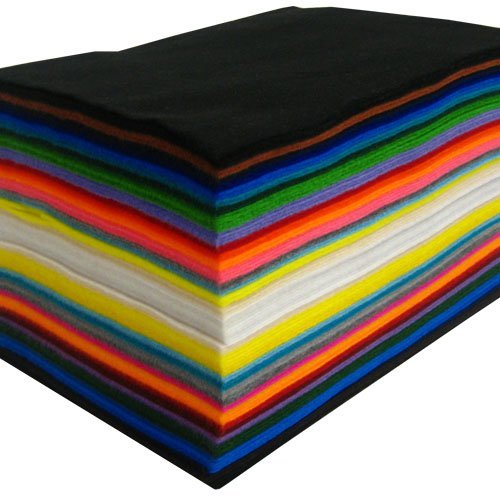 Acrylic Craft Felt: 100 Sheets, Assorted ()