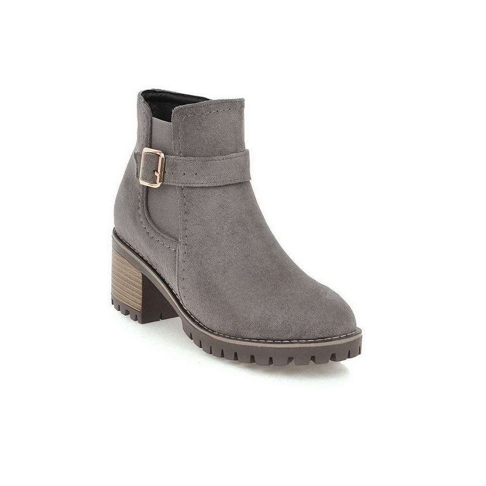 BalaMasa Womens Nubuck Travel Platform Leather Boots ABL11537