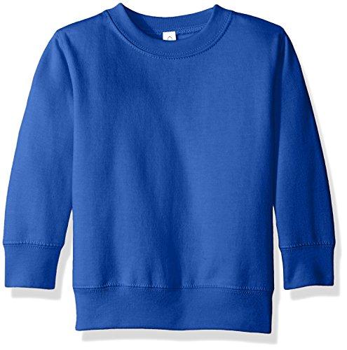 Clementine Apparel Girls' Little (2-7) Apparel Toddler's Fleece Sweatshirt, Royal Blue, 4T ()