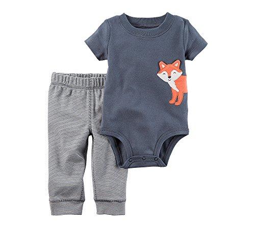 Infant 2 Piece Pant (Carter's Baby Boys' 2 Piece Fox Bodysuit Pants Set 3 Months)