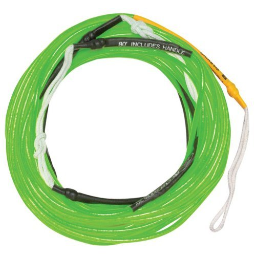 Hyperlite Accurate A Line Neon Green Wakeboard Mainline Rope - 80 ft.