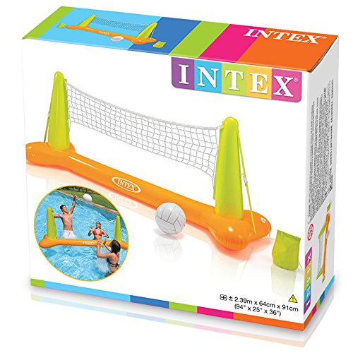5192tiMvXbL - Intex Pool Volleyball Game, 94in X 25in X 36in, for Ages 6+
