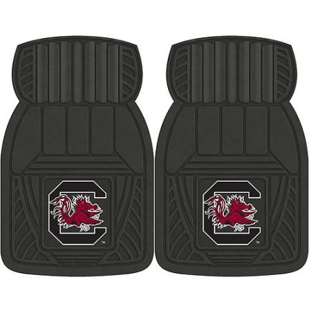 NCAA 4-Piece Front #36572603 and Rear #19888870 Heavy-Duty Vinyl Car Mat Set, University of South Carolina by Sports Licensing Solutions LLC