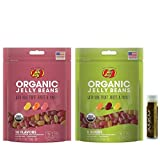 Jarosa's Gift Set of Jelly Belly Assorted Organic Jelly Beans Includes 2 - 5.5 oz Bags (1 - 10 Flavor Bag & 1 - Sours Bag) and a Jarosa Bee Organic Chocolate Bliss Lip Balm
