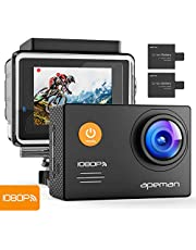 APEMAN Trawo Action Cam 4K WiFi 20MP Ultra HD Sott'Acqua Impermeabile 40M Videocamera con 170 °Ultra Grandangolare Sensore Avanzato EIS Stabilizzazione Doppia 1350mAh Batterie