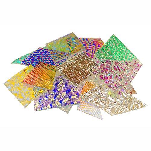1 Lb Cbs Wissmach Texture Scrap On Clear - 96 Coe ()