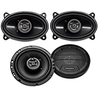 (2) Hifonics ZS653 6.5 600 Watt Car Stereo Speakers+(2) 4x6 400 Watt Speakers